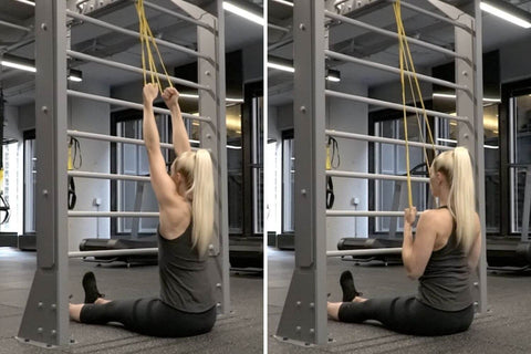 resistance band row variations