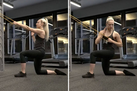 resistance band rowing