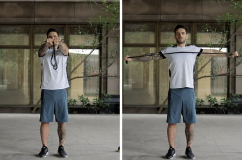 resistance band scapula mobility