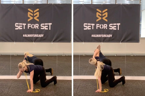 resistance band stretches for back