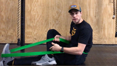 resistance band stretches for legs