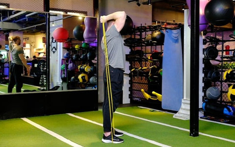 resistance band tricep workout