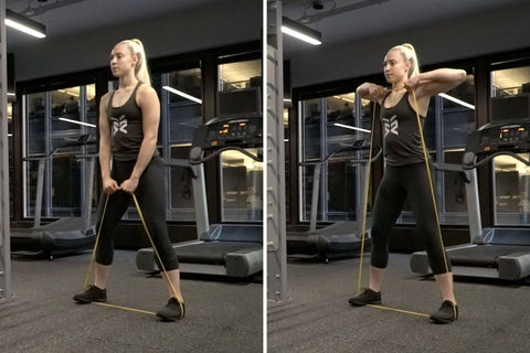 resistance band upright row