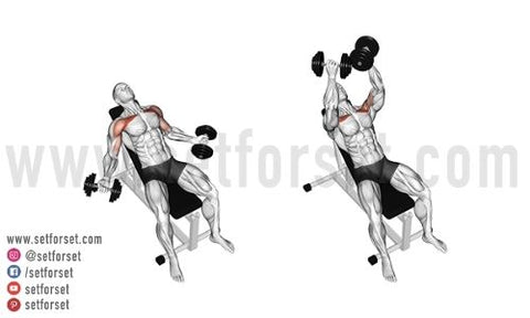 seated incline front raise