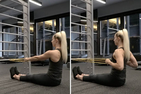 seated resistance band row