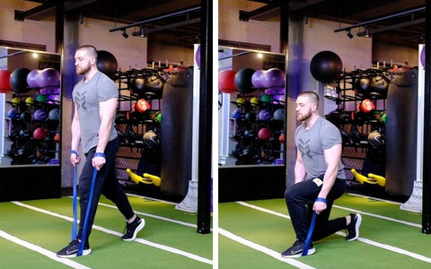 split squat with resistance band