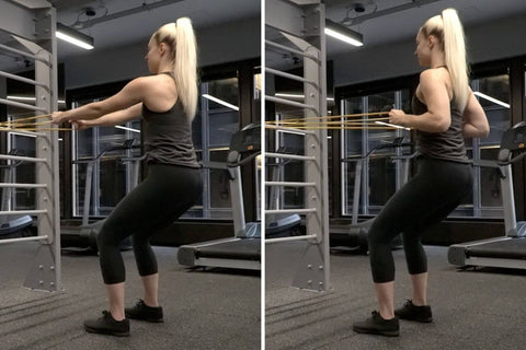 standing resistance band row