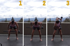 steel mace back exercise