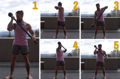 steel mace bicep exercise