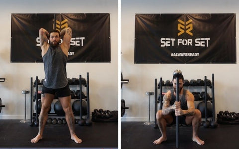 steel mace exercises for quads