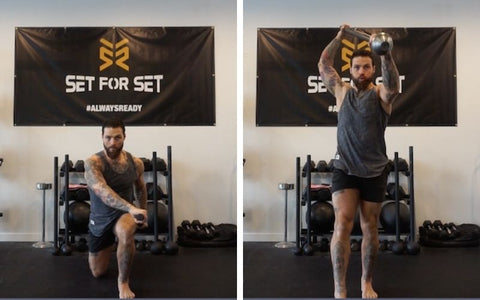 steel mace lunges