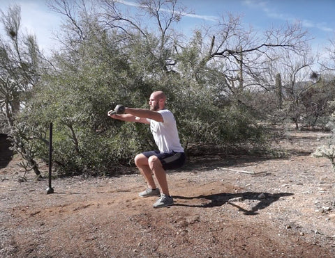 different types of steel mace squats