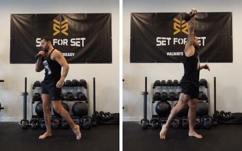 upper body workout with kettlebell