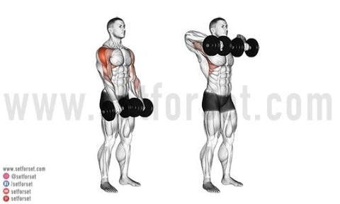 what exercises work the front deltoids