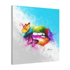 BUTTERFLY LIPS | Canvas Gallery Print