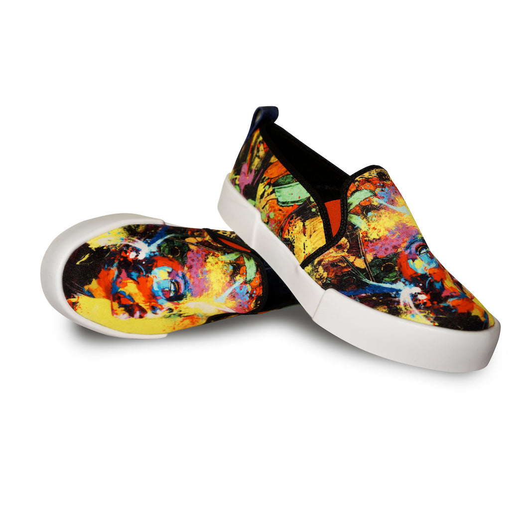 BEAUTIFUL MIND | Top Print Loafer Shoes