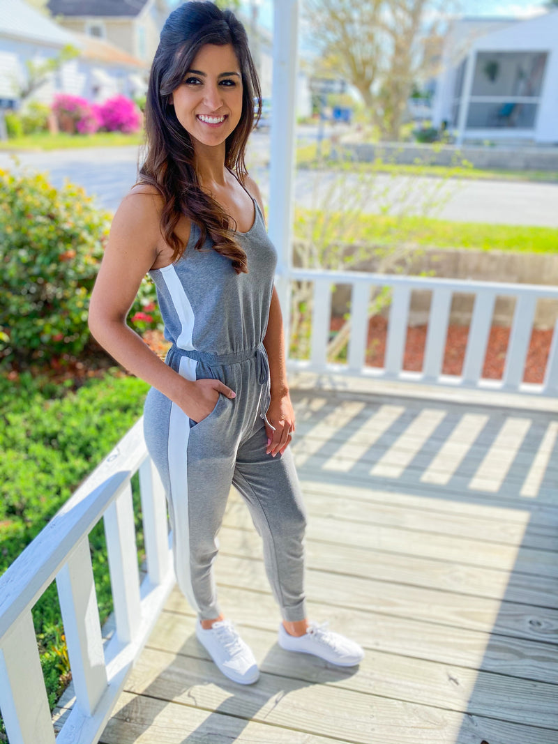 Track Knit Jumpsuit