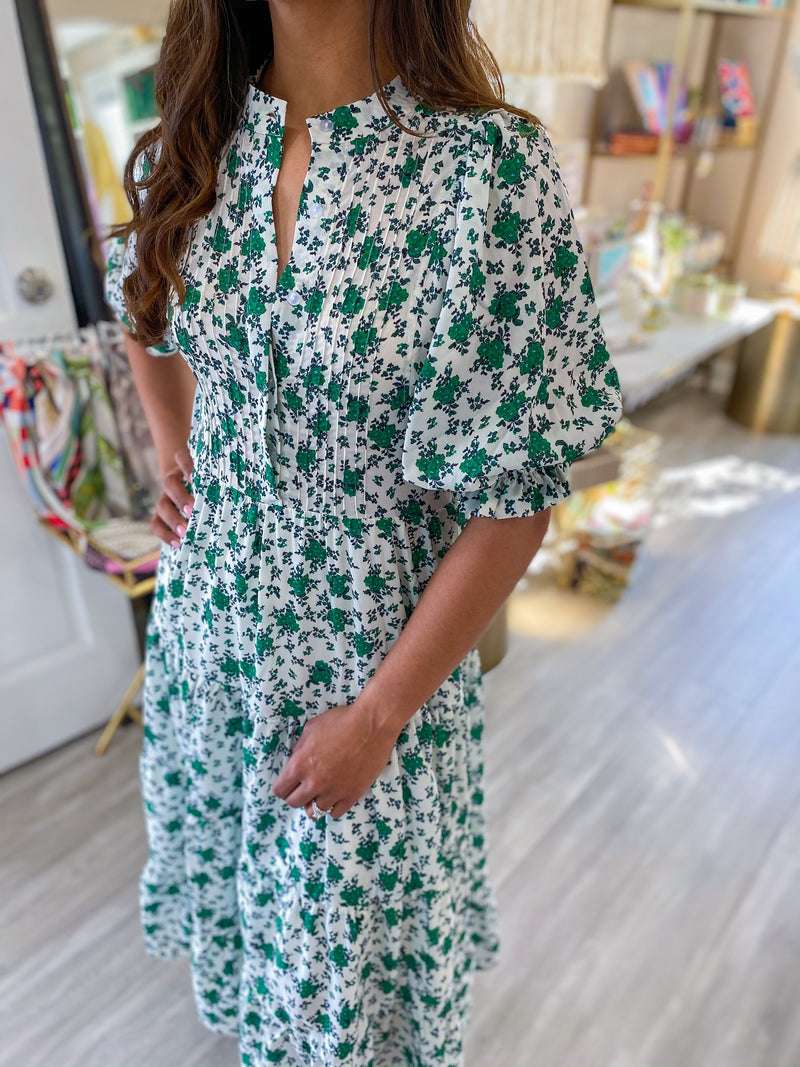 Puff Sleeve Floral Prairie Dress