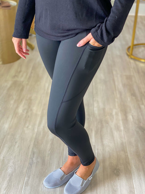 Tech Pocket Womens High Waisted Workout Leggings