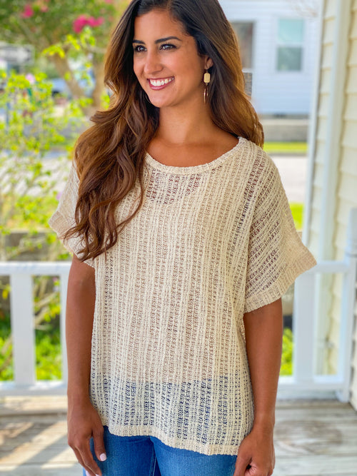 Silver Thread Lightweight Sweater