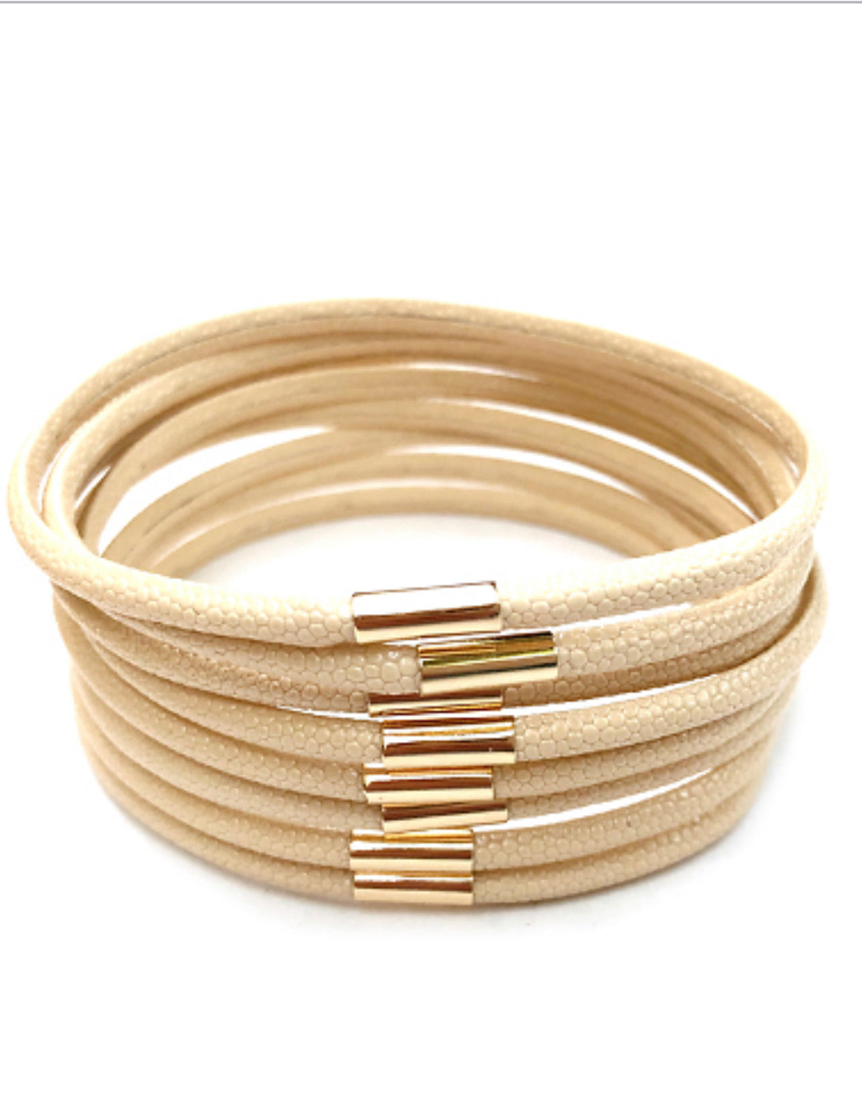 8 Row Color Leather Bracelet