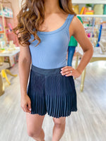 Satin Mini Pleated Skort