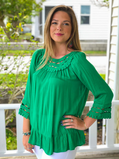Crochet Detail Tunic Top
