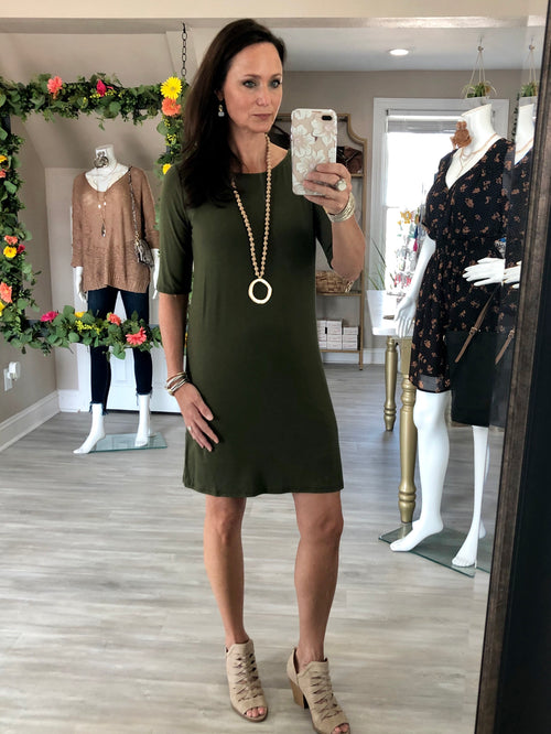 Bamboo Straight TShirt Dress