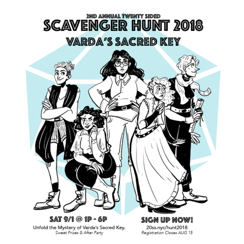 2nd Annual Twenty Sided Scavenger Hunt | Varda's Sacred Key - SAT 9/1 @ 1p