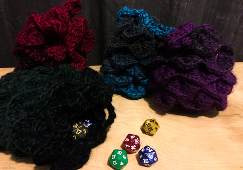 Dragon Scale Crochet Dice Bag by Maita