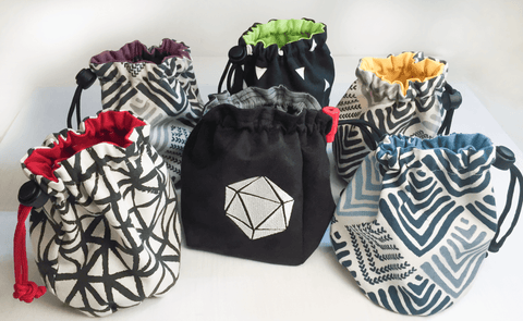 Handmade Custom Twenty Sided Dice Bags