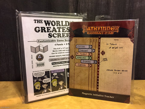Worlds Greatest Screen and Paizo Initiative Tracker