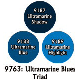 Paint Set (3ct) Reaper 09763 Ultramarine Blues