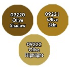 Paint Set (3ct) Reaper 09774 Olive Skintones