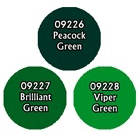 Paint Set (3ct) Reaper 09776 Brilliant Greens
