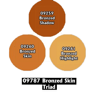 Paint Set (3ct) Reaper 09787 Bronzed Skin