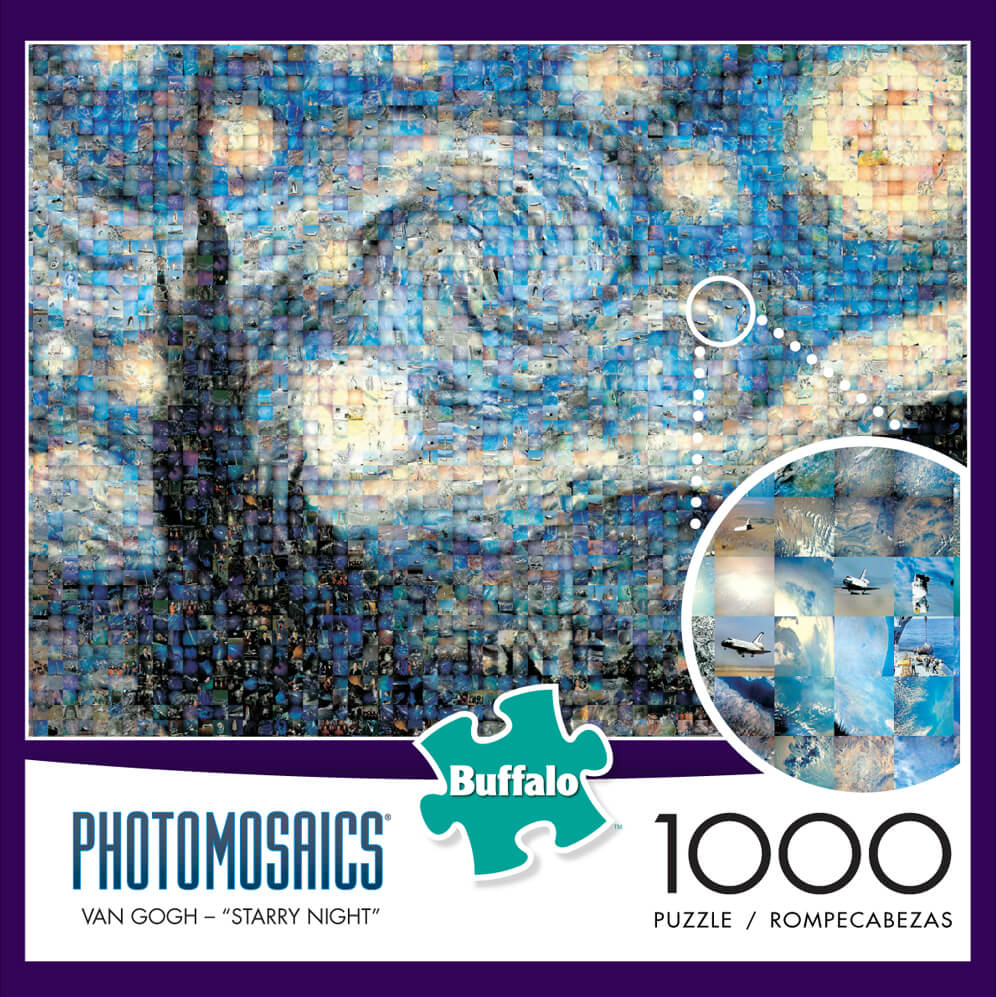 Puzzle (1000pc) Photomosaics : Starry Night