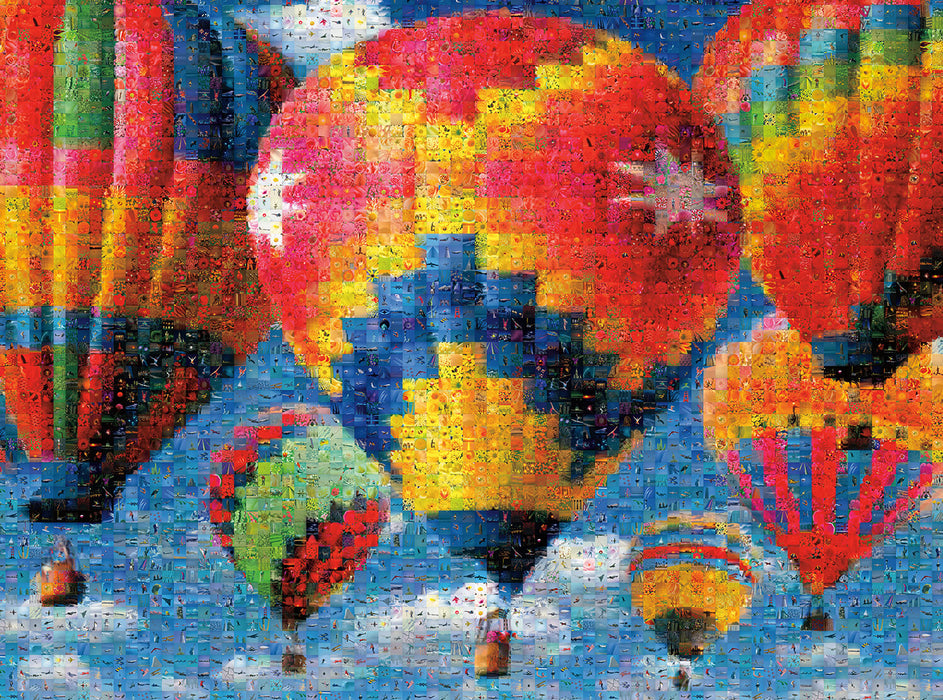 Puzzle (1000pc) Photomosaics : Balloon Race