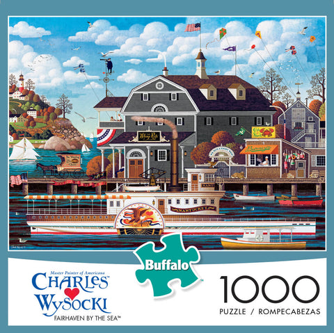 Puzzle (1000pc) Charles Wysocki : Fairhaven by the Sea