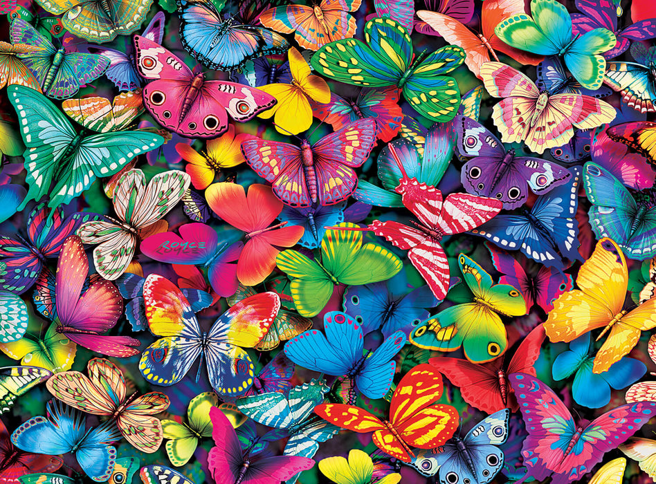 Puzzle (1000pc) Vivid : Butterflies