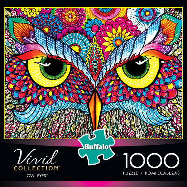 Puzzle (1000pc) Vivid : Owl Eyes