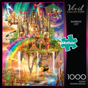 Puzzle (1000pc) Vivid : Rainbow City