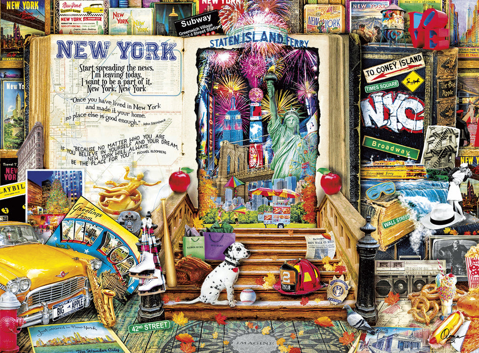 Puzzle (1000pc) Life is an Open Book : New York