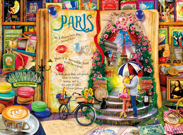 Puzzle (1000pc) Life is an Open Book : Paris