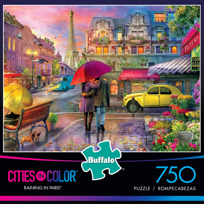 Puzzle (750pc) Cities in Color : Raining in Paris