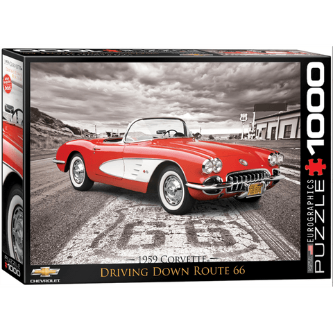 Puzzle (1000pc) American Car Classics : 1959 Corvette Route 66