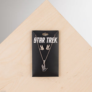Star Trek Set Earring & Necklace : Vulcan