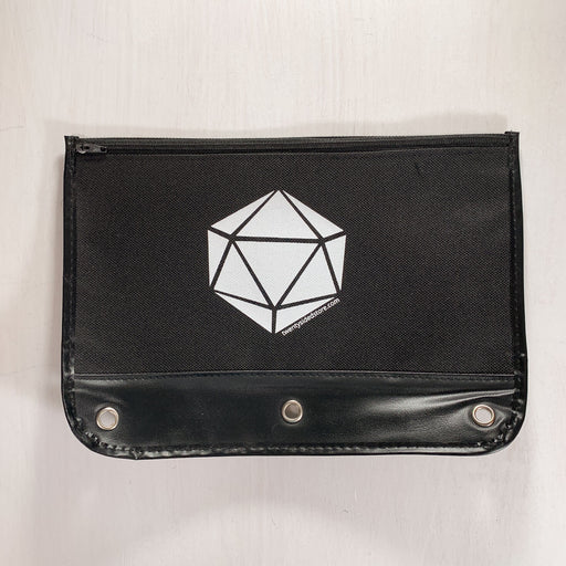 Pencil Case 3-ring Zipper Pouch 20ss Logo : Black / White