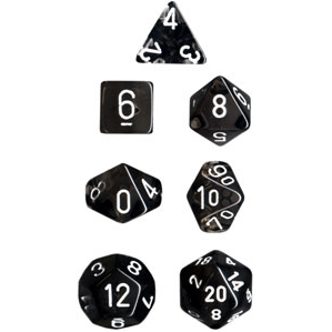 Dice 7-set Translucent (16mm) 23078 Smoke / White