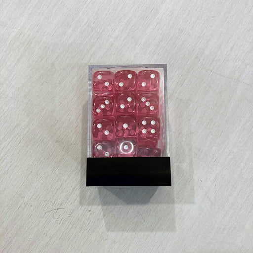 Dice Set 36d6 Translucent (12mm) 23814 Pink / White